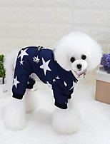 Cat Dog Coat Hoodie Dog Clothes Casual/Daily Keep Warm Stars Red Blue Costume For Pets