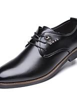 Недорогие -Муж. обувь Полиуретан Весна Осень Формальная обувь Туфли на шнуровке для Черный