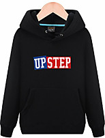 cheap -Men's Daily Going out Hoodie Letter Cotton Long Sleeves