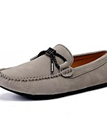 Men's Shoes Flocking Spring Fall Moccasin Light Soles Loafers & Slip-Ons For Casual Khaki Blue Gray Black