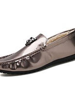 Men's Shoes PU Spring Fall Fluff Lining Moccasin Driving Shoes Comfort Loafers & Slip-Ons For Casual Party & Evening Black Gold