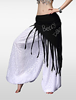 Belly Dance Hip Scarves Women's Training Polyester Crystals/Rhinestones Tassels Hip Scarf