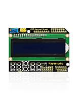 abordables -Keyestudio 1602lcd teclado protector para pantalla lcd arduino atmega2560 para raspberry pi uno pantalla azul módulo negro