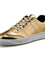 cheap -Men's Shoes PU Fall Comfort Sneakers For Casual Silver Black Gold