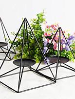 Simple Modern Iron Art Home Decoration Fashionable Black Restaurant Candle Holder