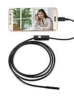 cheap -USB Endoscope Camera 5.5mm Lens Waterproof IP67 Inspection Borescope Snake Night Video Cam 2M Hard Cable for Android PC