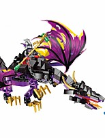 GUDI Building Blocks SUV Toys Megalosaurus Dragon Classic Theme People Non Toxic Classic Warrior Kids Adults' Boys' 247 Pieces