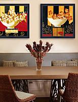 Floral/Botânico Vida Imóvel Ilustração Arte de Parede,PVC Material com frame For Decoração para casa Arte Emoldurada Sala de Estar
