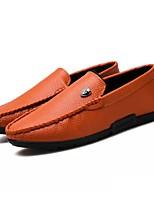 Для мужчин обувь Полиуретан Весна Осень Обувь для дайвинга Мокасины и Свитер Назначение Повседневные Черный Оранжевый Темно-синий