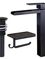 Set de centre Jet pluie Soupape céramique Mitigeur un trou Bronze huilé , Robinet lavabo