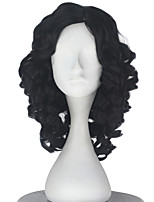 Synthetic Girl Short Curly Dark Black Color Wig Role play movie Cosplay Costume Wigs Adult Halloween hair