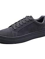 cheap -Men's Shoes PU Spring Fall Light Soles Sneakers For Casual Gray Black White