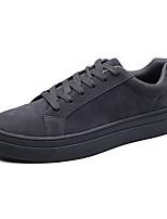 abordables -Hombre Zapatos PU Primavera Otoño Suelas con luz Zapatillas de deporte Para Casual Blanco Negro Gris