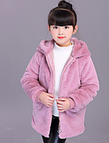 Girls' Solid Jacket & Coat,Others Long Sleeves Cute Blushing Pink Gray