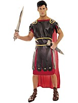 Gladiator Medieval Ancient Rome Costume Male Outfits Masquerade Red Vintage Cosplay Polyster