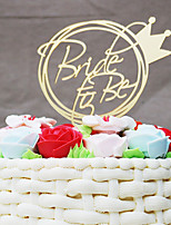 Cake Topper Wedding Acrylic Bridal Plastic Wedding with 1 OPP