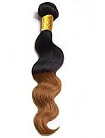 economico -Remy Brasiliano Ambra Ondulato naturale Extensions per capelli 1pc Nero / Medium Auburn