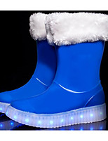 cheap -Boys' Shoes Other Animal Skin Winter Fall Comfort Rain Boots Boots Walking Shoes Booties/Ankle Boots Mid-Calf Boots for Casual Black Blue