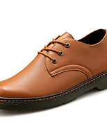 Men's Shoes PU Spring Fall Comfort Oxfords For Outdoor Wine Yellow Black