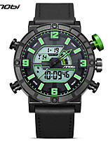 Men's Sport Watch Japanese Quartz Calendar / date / day Shock Resistant Noctilucent Large Dial Silica Gel Band Cool Black