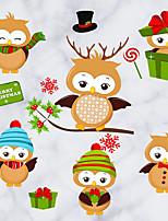 Animaux Stickers muraux Manche Autocollants muraux décoratifs,Laiton laqué Matériel Décoration d'intérieur Calque Mural