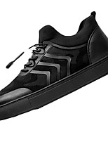 Men's Shoes PU Spring Fall Comfort Sneakers For Casual Black