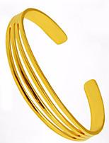 Недорогие -Жен. Браслет цельное кольцо Браслет разомкнутое кольцо азиатский Подарок Милый Мода Позолота Геометрической формы Бижутерия Назначение