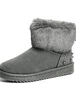 cheap -Women's Shoes Rubber Winter Snow Boots Boots Chunky Heel Round Toe for Outdoor Black Gray