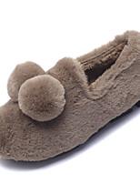 Недорогие -Для женщин Обувь Полиуретан Весна Осень Удобная обувь Тапочки и Шлепанцы для Черный Розовый Хаки