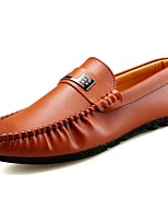 Men's Shoes Nappa Leather All Season Comfort Loafers & Slip-Ons For Casual Blue Brown Black