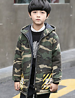 Boys' Camouflage Color Down & Cotton Padded