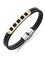 Men's Bracelet Leather Bracelet Rock Stainless Steel Leather Round Jewelry For Going out Street