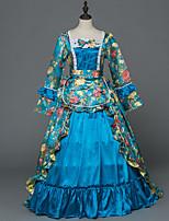 Vittoriano Rococò Donna Per adulto Vestito da Serata Elegante Stile Carnevale di Venezia Verde Cosplay Satin elasticizzato Manica lunga