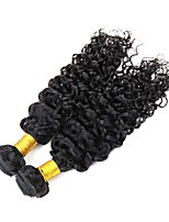 cheap -Remy Peruvian Natural Color Hair Weaves Deep Wave Hair Extensions 2pcs Black
