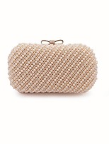 Women Bags All Seasons ABS+PC Evening Bag Beading Bow(s) Pearl Detailing Pockets for Sports & Outdoor Event/Party Blushing Pink