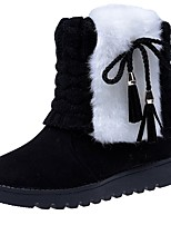 cheap -Women's Shoes PU Winter Comfort Snow Boots Fashion Boots Boots Round Toe Booties/Ankle Boots For Casual Wine Brown Black