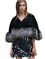 Half Sleeves Faux Fur Wedding Party / Evening Women's Wrap Capelets