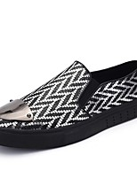 Men's Shoes PU Spring Fall Comfort Loafers & Slip-Ons For Casual Silver Black