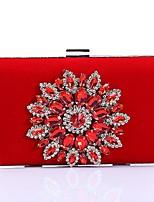 Women Bags Velvet Evening Bag Crystal Detailing for Wedding Event/Party All Season Blue Black Red