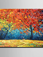 Hand-Painted Landscape Vertical,Rustic Modern One Panel Canvas Oil Painting For Home Decoration