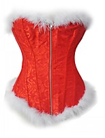 Women's Overbust Corset Solid-Medium Nylon Red