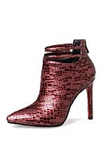 Femme Chaussures Similicuir Automne Hiver Bottes à la Mode boîtes de Combat Bottes Talon Aiguille Bout pointu Bottine/Demi Botte Pour