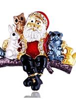 Муж. Жен. Броши Стразы Простой Стразы Сплав Геометрической формы Бижутерия Назначение Рождество
