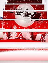 Недорогие -Рождество Наклейки Простые наклейки Декоративные наклейки на стены,Винил Украшение дома Наклейка на стену For Пол