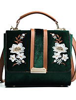 cheap -Women Bags Velvet Tote Pockets for Outdoor Winter Fall Black Blushing Pink Military Green