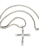 Men's Women's Pendant Necklaces Cross Rhinestone Alloy Personalized Cross Jewelry For Daily Casual