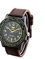 Homens Mulheres Relógio de Moda Quartzo Impermeável Noctilucente Couro Banda Casual Legal Marrom