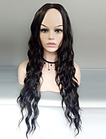 cheap -Women Synthetic Wig Capless Long Deep Wave Black Middle Part Costume Wig