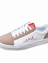 Men's Shoes PU Spring Fall Comfort Sneakers For Casual White/Green Black/White Black White