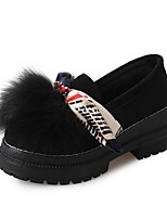 cheap -Women's Shoes Fleece Winter Fall Light Soles Flats Round Toe for Casual Black Khaki